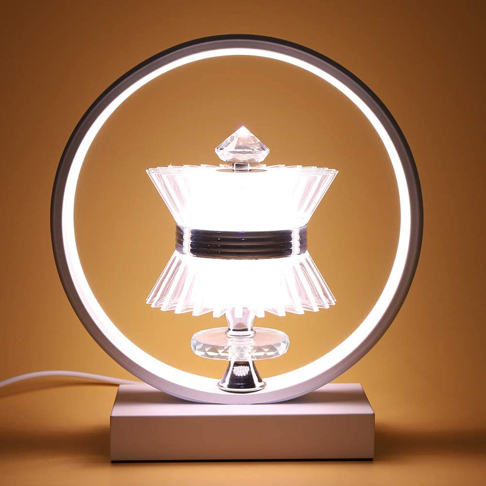 amazon - edier led table lamp - modern bedroom nightstand lamp - super bright bedside table